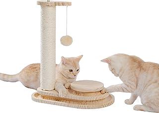 [Amazonブランド] Umi.(ウミ) 猫爪とぎ 猫のおもちゃ 爪とぎポール 小型キャットタワー 木製 爪磨き 据え置き おもちゃ付き 安定 多頭飼い 転倒防止 省スペース コンパクト猫玩具 遊び場 麻紐 可愛い 人気 猫用品 猫のおもちゃ 安定