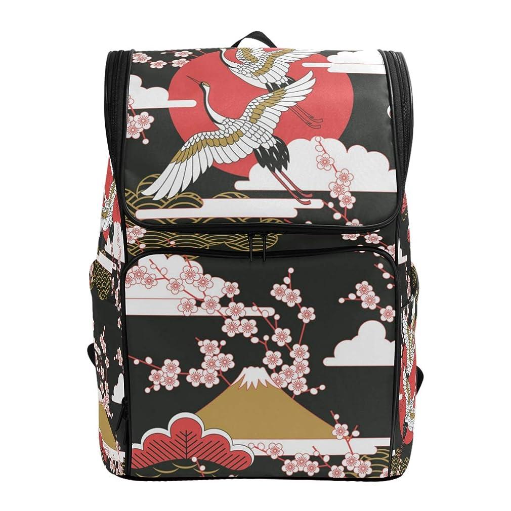 酸っぱい期間組み立てるマキク(MAKIKU) リュック 大容量 リュックサック 軽量 メンズ 登山 通学 通勤 旅行 プレゼント対応 日本 鶴 赤い ブラック