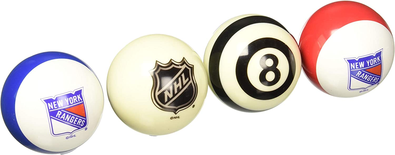 Imperial Officially Licensed NHL Merchandise  Home vs. Away Billiard Pool Balls, Complete 16 Ball Set, New York Rangers