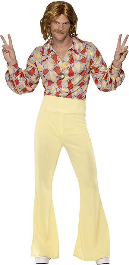 70s Costumes: Disco Costumes, Hippie Outfits Smiffys 1960s Groovy Guy Costume  AT vintagedancer.com