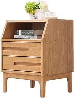 JYHH Table de chevet – Table de chevet en bois pour canapé, table de chevet, tiroir, étagère de rangement pour chambre à c...