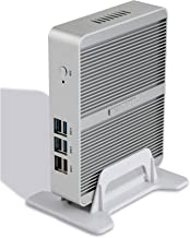 Kingdel Smart Compact Mini Desktop Computer, Fanless Nettop with Intel Celeron N3150 4 Cores CPU, 8GB RAM, 128GB SSD, 2LAN, 2HDMI, 4USB 3.0, Wi-Fi, Windows 10 Pro