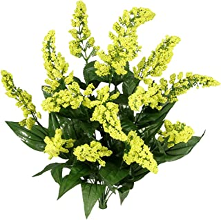 Admired By Nature 14 Stems Artificial Heather Fillers Bush & Greenery for Home, Wedding, Restaurant, & Office Decoration Arrangement, Yellow