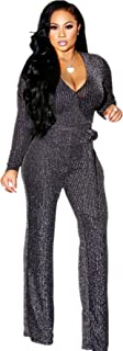 Sparkly Jumpsuits for Women Elegant Plus Size Sexy Casual...