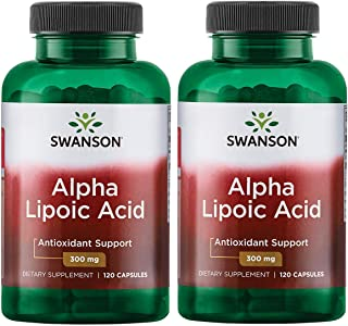 Alpha Lipoic Acid Antioxidant Protection Promotes Healthy Blood Sugar Supplement 300 mg 120 Capsules (2 Pack)