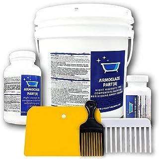 Armoglaze - Enamel Epoxy Bath Refinishing Kit - Odorless / Extremely Durable - Easy Pour-on Application - Color : White - ...