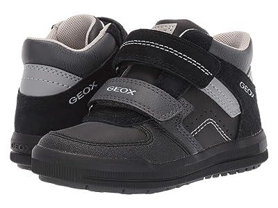 Geox Kids Jr Arzach 16 (Little Kid) (Black/Dark Grey) Boys Shoes