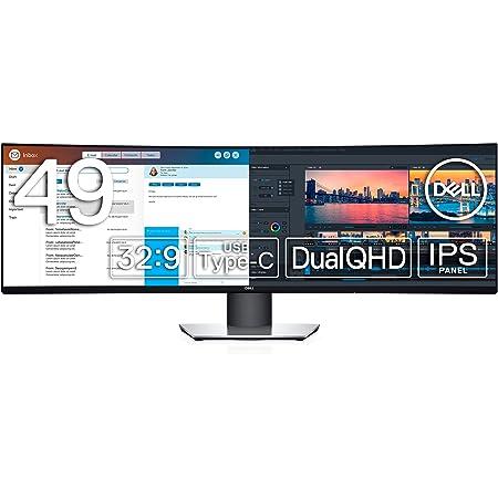 Dell 曲面モニター 49インチ U4919DW(3年間無輝点交換保証付/広視野角/DualQHD/IPS非光沢/ブルーライト軽減/フリッカーフリー/USB Type-C,DP,HDMIx2/高さ調整)