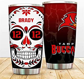 Funny Tumblers For Boy - Football Player Number 12# Coffee Mugs -Tampa Bay 20oz Cup For Son,Daughter,Brother,Sister,Best F...