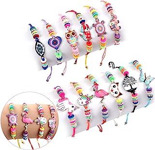 دستبند دوستی دستبند دوستی برای جوایز بازی Lorfancy 12 قطعه کودکان و نوجوانان دخترانه دستبند جواهرات آویز حیوانات