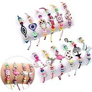 Lorfancy 12 Pcs Kids Girls Women Bracelets Jewelry Animal Pendant Unicorn Owl Cute Bracelet...