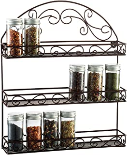 Saganizer 3 Tier spice rack spice organizer, wall spice rack, great idea for spice storage, designed spice shelf
