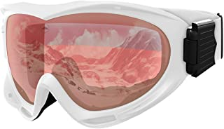 Ski & Snowboard Goggles - Snow Glasses for Skiing, Snowboarding, Motorcycling & Outdoor Winter Sports - Anti Fog & Helmet ...