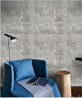 Dwind D1015 3D 壁紙シール DIY 壁紙シール 石目調 レンガ はがせる リメイクシート リフォーム ウォールステッカー 防水 45cm × 5m グレー ストーン