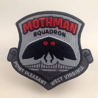 Mothman Squadron Embroidered Patch | Cryptozoology Paranormal Monster Iron-On Military Morale Badge