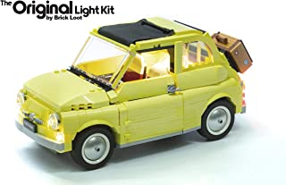 Brick Loot Deluxe LED Light Kit for Your Lego Fiat 500 Set 10271 (Lego Set Not Included)