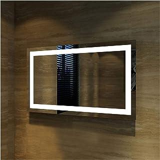Elegant Showers Square Bathroom Vanity Mirror LED Makeup Mirror, Illuminated Touch Switch Anti-Fog Decorative Mirror, 1200x800mm, Made Vast Improvement to Bathroom