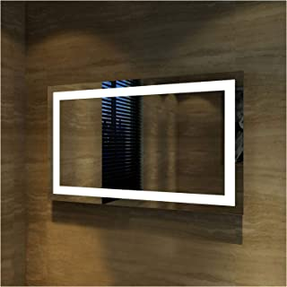 Elegant Showers Square Bathroom Vanity Mirror LED Makeup Mirror, Illuminated Touch Switch Anti-Fog Decorative Mirror, 1200x800mm, Made Vast Improvement to Bathroom