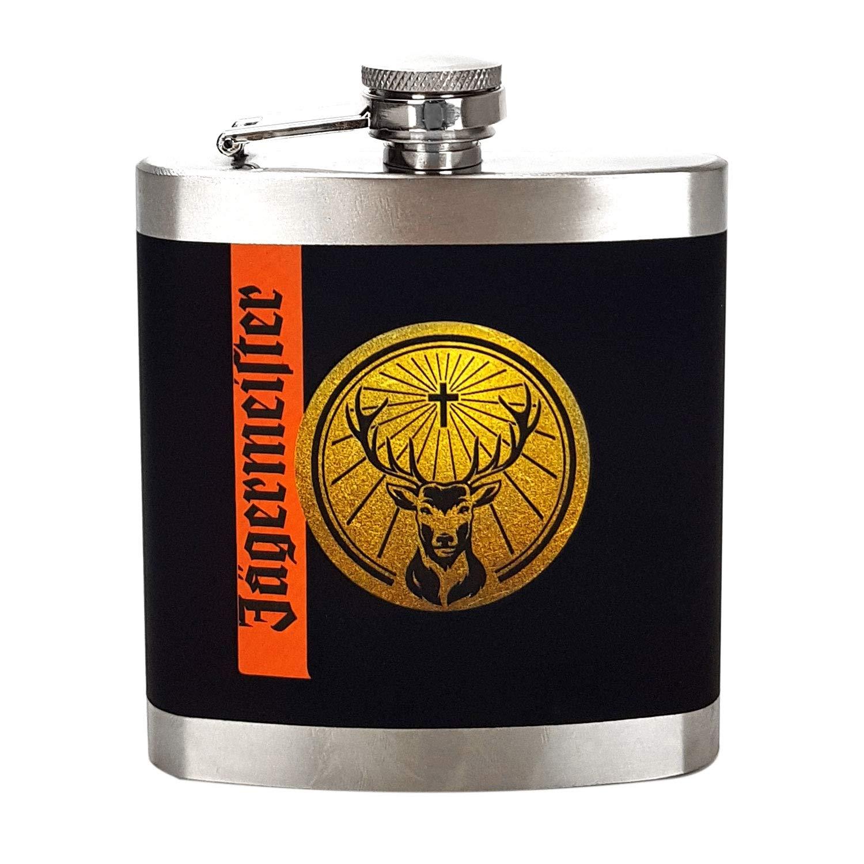 Jägermeister Hip Flask Stainless Steel with Screw Lid