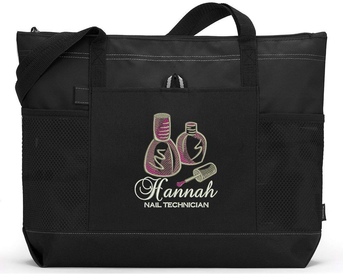 Nail Technician specialty shop Branded goods Personalized Tote Bag Embroidered