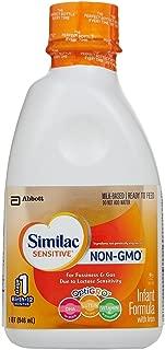 Similac Sensitive Non-GMO Baby Formula - Ready to Feed - 32 oz - 6 pk