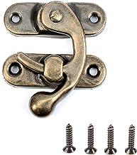 15st Antieke Vintage Lock Sluiting met Schroeven - Rechts Klink Haak Hasp 42mm x 37mm Swing Arm Klink Plated Brons