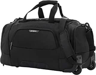 Samsonite 104350 Albi Soft Side Wheeled Duffle Bag, Black/Grey, 33 Centimeters