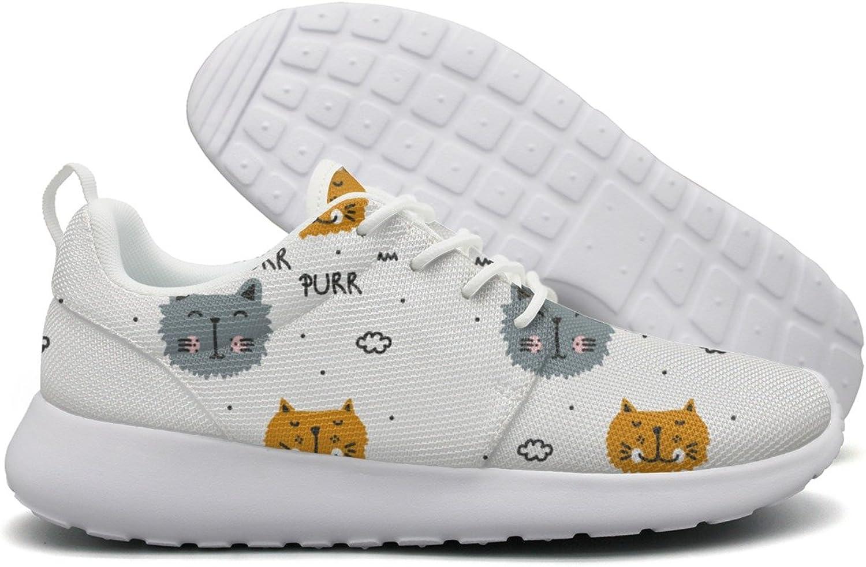 Cute Cat Purr Purr-01 Women Flex Mesh Ladies Casual shoes