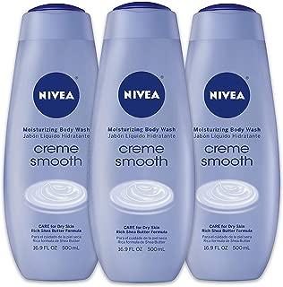 NIVEA Crème Smooth Moisturizing Body Wash - Fresh Scent for Dry Skin - 16.9 fl. oz. Bottle (Pack of 3)