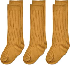 Epeius Unisex-Baby Cotton Cable Knit Knee High Socks Tube Stockings (Pack of 3)