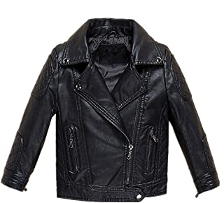 LJYH Childrens Fashion Leather Motorcycle Jacket Boy's Winter Zipper Coat