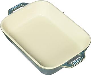 """Staub en céramique Plat de cuisson rectangulaire 19,1x 15,2cm 7.5"""" x 6"""" Rustic Turquoise"""