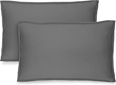 Bare Home Premium 1800 Ultra-Soft Microfiber Pillow Sham - Double Brushed - Hypoallergenic - Wrinkle Resistant (Standard Pill