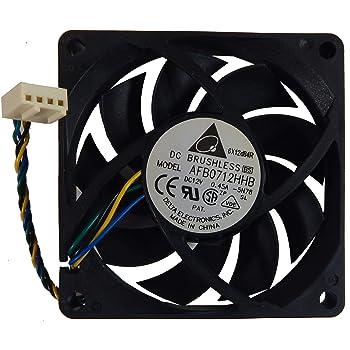 Delta 12v DC 0.32a 80x25mm 3-Wire Fan AUB0812HH-6H55
