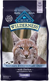 Blue Buffalo Wilderness High Protein Grain Free Natural Mature Dry Cat Food, Chicken 2-lb