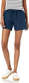 "Amazon Essentials Women's Drawstring Linen Blend Short - 5"""