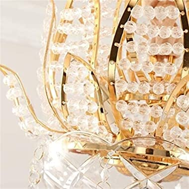 Chandelier Lighting Fixture Victoria Modern Crystal Raindrop Chandelier Lighting Creative Lotus Metal Pendant Lamp E14*3 Flus