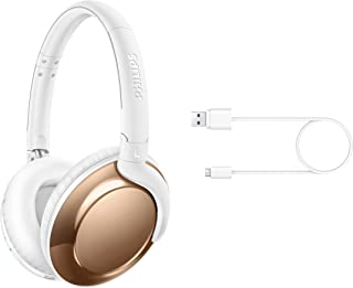 Philips Flite Everlite SHB4805RG Wireless Bluetooth Headphone with Mic and Remote Control - Rose Gold