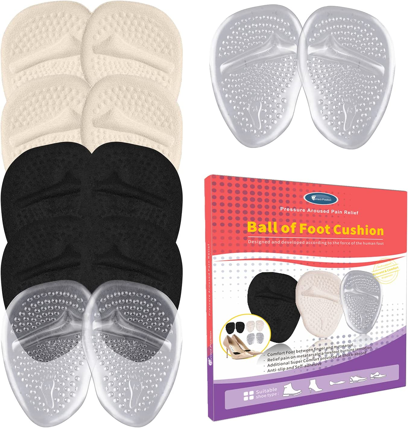 Max 60% OFF Ball of Foot Cushions High Heels for Gel Women Soft Insoles lowest price Met