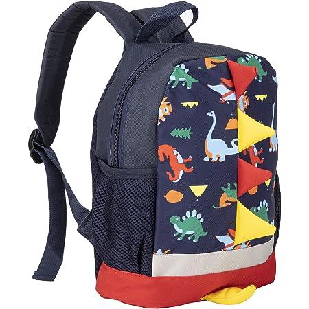 BAIGIO Mochila Infantil Kindergarten,Pequeñas Mochilas Bolsas Escolares Animales para Niñas Primaria Linda Mochila Dinosaurio 3D Guarderia Preescolar para 2-7 Años (Azul 1)