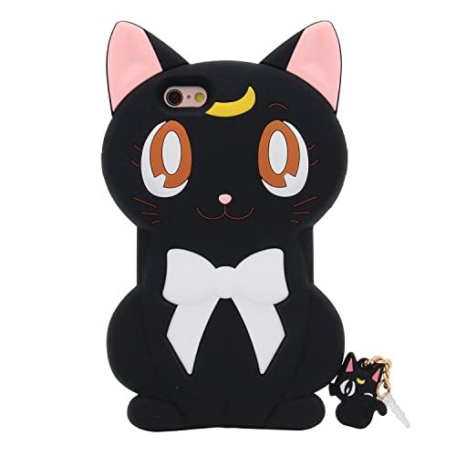 c1b98413c1 iPhone 6S Plus Case, MC Fashion Cute Japanese Cartoon Sailor Moon Crystal  Luna Cat Protective