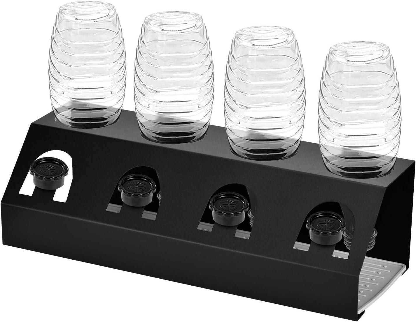 Queta /Égouttoirs /à Bouteille Sodastream Porte-Bouteilles avec Support de Couvercle et Bac d/Égouttoir en Silicone pour Bouteille de Soda en Verre et Cristal Passe Au Lave-Vaisselle