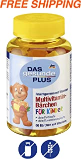Multivitamins for Children - Fruity Gummy Bears 60 pcs, Das gesunde PLUS/Germany