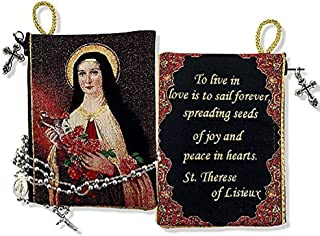 Saint Therese of The Child Jesus Tapestry Pouch Keepsake Prayer 5 1/2 Inch