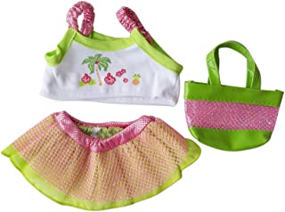 """Hawaiian Outfit Clothing Fits 8""""-10"""" Most Webkinz, Shining Star and 8""""-10"""" Make Your Own Stuffed Animals and"""