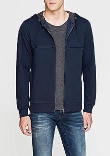Fermuarlı Lacivert Sweatshirt