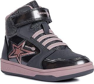 حذاء رياضي Maltin للفتيات بأربطة عالية الجودة من Geox ، رمادي/وردي
