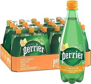 Perrier L'Orange Flavored Carbonated Mineral Water (Lemon Orange Flavor), Plastic Bottles, 16.9 Fl Oz (Pack of 24)