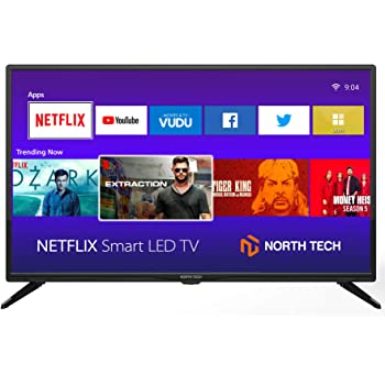 """NT North Tech 32"""" LED HD Smart TV - Screencast Streaming Android, CCD Aspect Ratio:16:9, Response time: 8ms, Resolution: 720P - Wi-Fi 