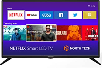 "NT North Tech 32"" LED HD Smart TV - CCD Aspect Ratio:16:9, Response time: 8ms, Resolution: 720P - Wi-Fi 